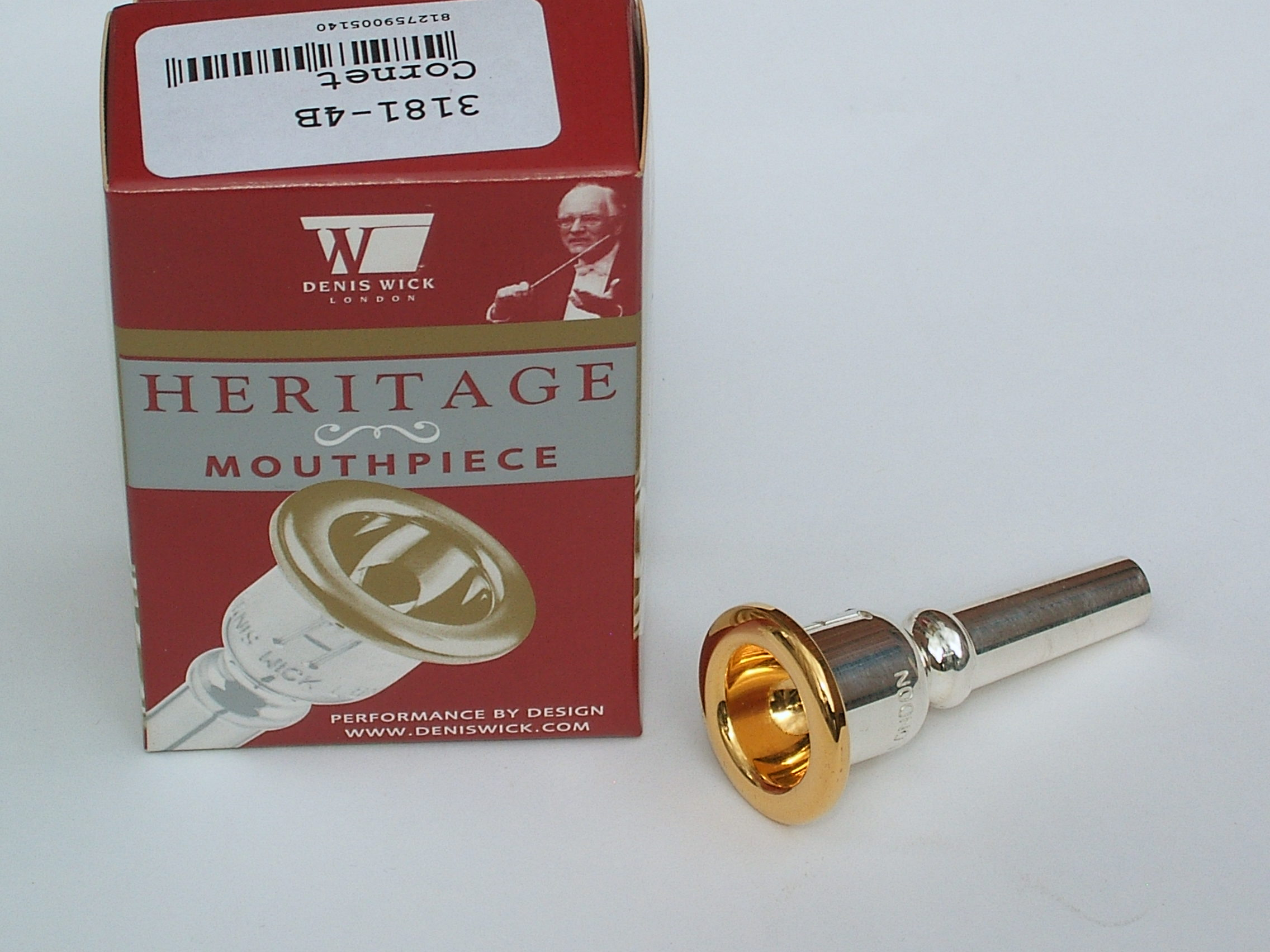 "Denis Wick ""Heritage\"" Model Cornet Mouthpiece"